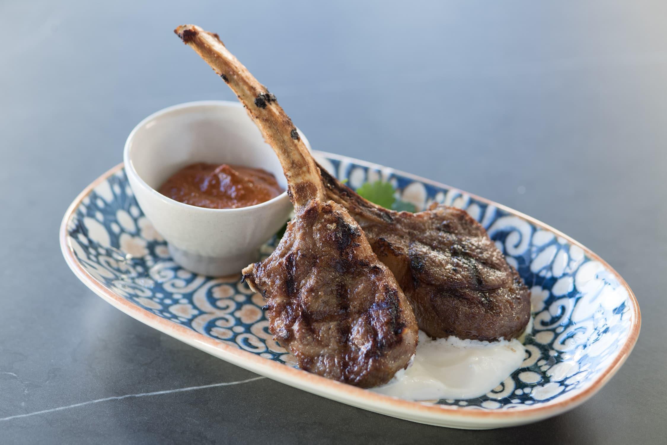 Lamb cutlets at Saros Bar + Dining