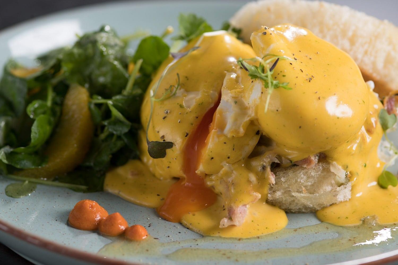Eggs Benedict at Saros Bar + Dining